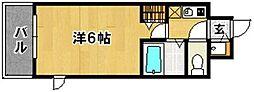 アンジェラス西新II[401号室]の間取り