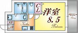 クレアドル須磨II[703号室]の間取り