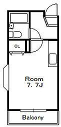 レーベンス八幡[6階]の間取り