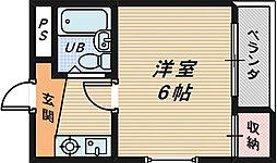 シャルム三国ヶ丘[2階]の間取り