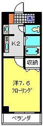 神奈川県横浜市金沢区六浦1丁目の賃貸マンションの間取り