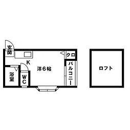 エレガンテ井尻[203号室]の間取り