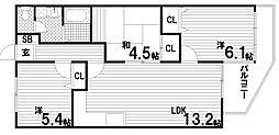 プリオーレ須磨[2階]の間取り