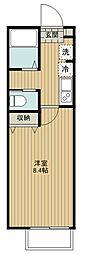 キャメル入間東藤沢 1階1Kの間取り