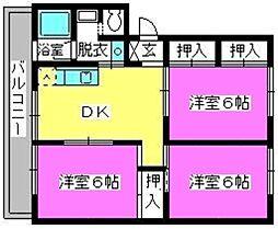 稲永ビル[303号室]の間取り