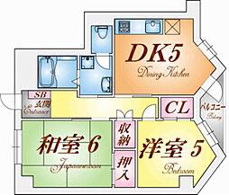 ルモン舞子[5階]の間取り