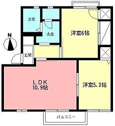 フォーレスツヅキ[101号室]の間取り