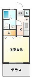 愛知県豊田市下仁木町諸屋の賃貸アパートの間取り
