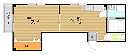 インウェストII[3階]の間取り