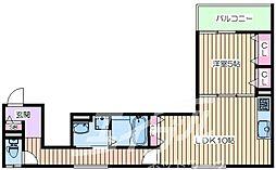 クリエオーレ生江II[3階]の間取り