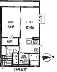 神奈川県横浜市都筑区茅ケ崎東3丁目の賃貸アパートの間取り