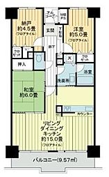JR京浜東北・根岸線 大宮駅 徒歩10分の賃貸マンション 10階3LDKの間取り