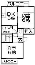 レジデンスピュア[2階]の間取り