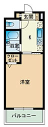 RJR大橋東[0106号室]の間取り