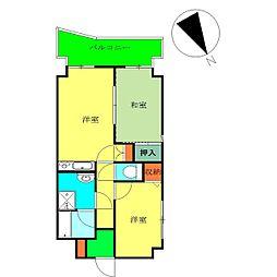 神奈川県横浜市保土ケ谷区上星川2丁目の賃貸マンションの間取り