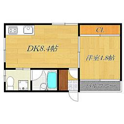 TK-FLATS[3階]の間取り