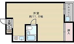 プロミネント相川[4階]の間取り