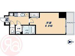 Osaka Metro中央線 阿波座駅 徒歩4分の賃貸マンション 5階1Kの間取り