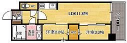 modern palazzo天神南[2階]の間取り