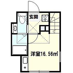 ハーミットクラブハウスヒルズ戸塚B[1階]の間取り