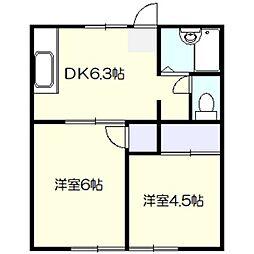 サンハイツ戸塚[2階]の間取り