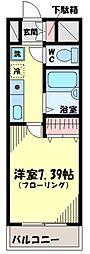 東京都世田谷区瀬田3丁目の賃貸マンションの間取り