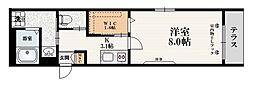 都営三田線 西巣鴨駅 徒歩9分の賃貸マンション 1階1Kの間取り