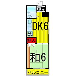 太田ハイツ[4階]の間取り