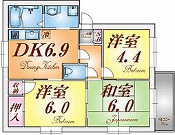 プレステージホーム[1階]の間取り