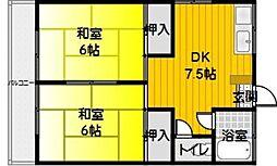 高田荘[201号室]の間取り