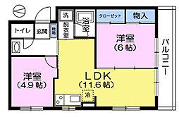 東京都練馬区田柄4丁目の賃貸マンションの間取り