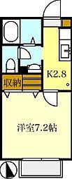 MAST コートパインズA[203号室]の間取り
