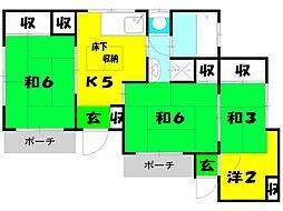 植松アパート[1階]の間取り
