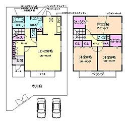 [一戸建] 大阪府豊中市向丘1丁目 の賃貸【/】の間取り