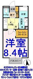 栃木県栃木市片柳町4丁目の賃貸アパートの間取り