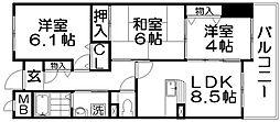 香里プラザ6[2階]の間取り