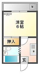 愛知県豊橋市草間町字二本松の賃貸マンションの間取り