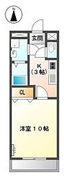 愛知県豊橋市高師町字西沢の賃貸アパートの間取り
