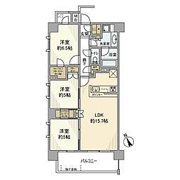 ザ・パークハウス横浜上永谷[4階]の間取り
