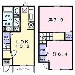 新潟県新潟市西蒲区巻の賃貸アパートの間取り
