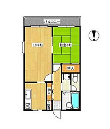 セントラルマンションⅡ[2階]の間取り
