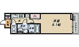 大阪府堺市西区鳳中町10丁の賃貸アパートの間取り