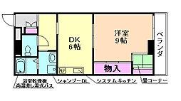 大阪府豊中市栗ケ丘町の賃貸マンションの間取り