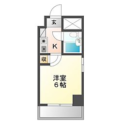 愛知県豊橋市八通町の賃貸マンションの間取り
