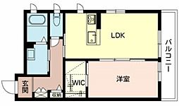 Osaka Metro御堂筋線 新金岡駅 徒歩10分の賃貸マンション 2階1LDKの間取り
