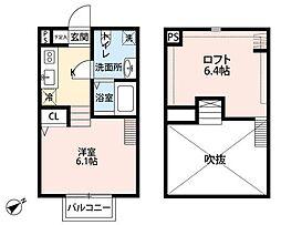 Elvita天台(エルビータテンダイ)[2階]の間取り