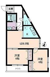 神奈川県横浜市南区別所2丁目の賃貸マンションの間取り