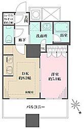 ザ・パークハウス西新宿タワー60 26階1LDKの間取り
