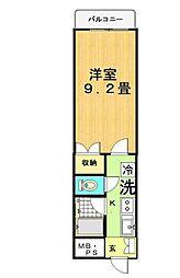 東京都足立区谷中2丁目の賃貸マンションの間取り