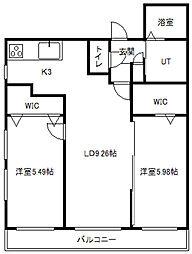 HUGA ODORI SUITE[4階]の間取り